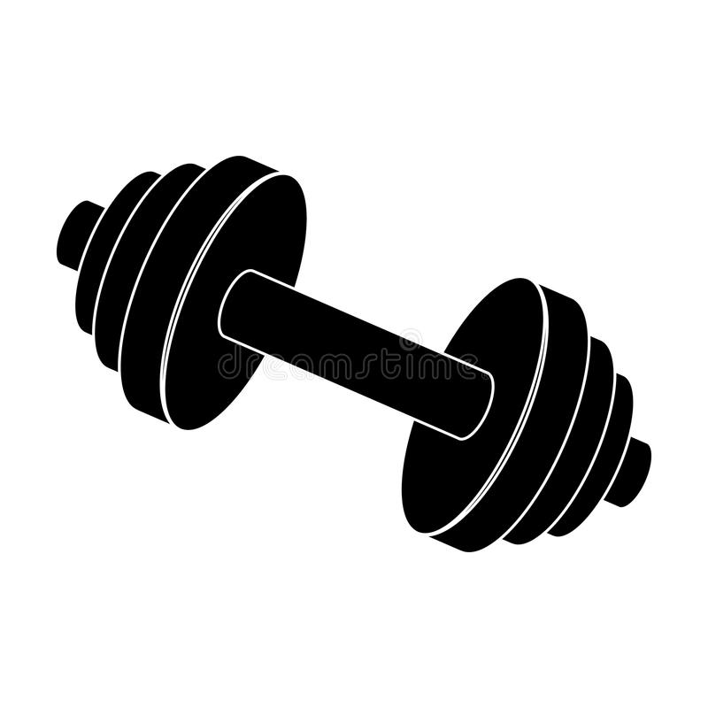 Vikter för utbildning Metallutbildningshjälpmedel Lagerför den enkla symbolen för idrottshallen och för genomköraren i svart stil stock illustrationer