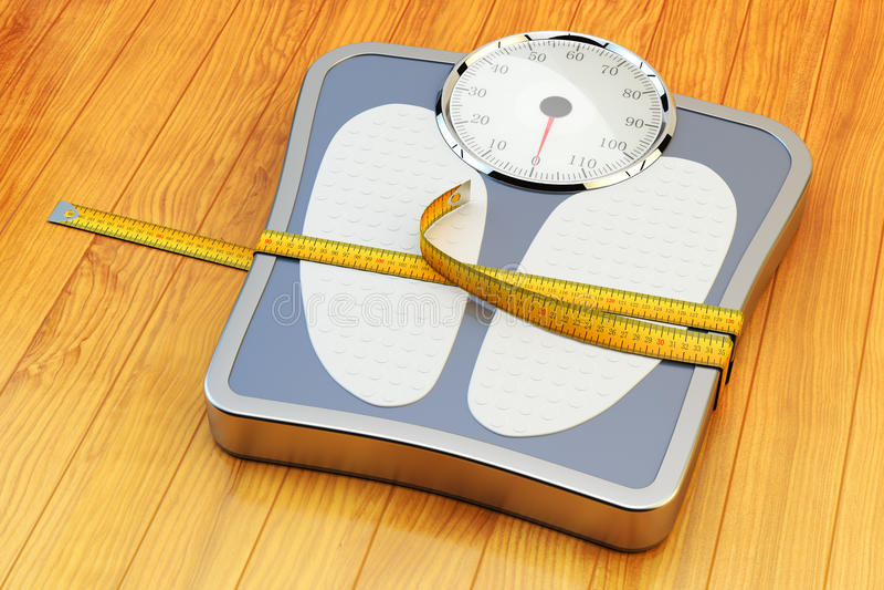 Viktförlust, bantning, bantar, och det sunda livsstilbegreppet vektor illustrationer
