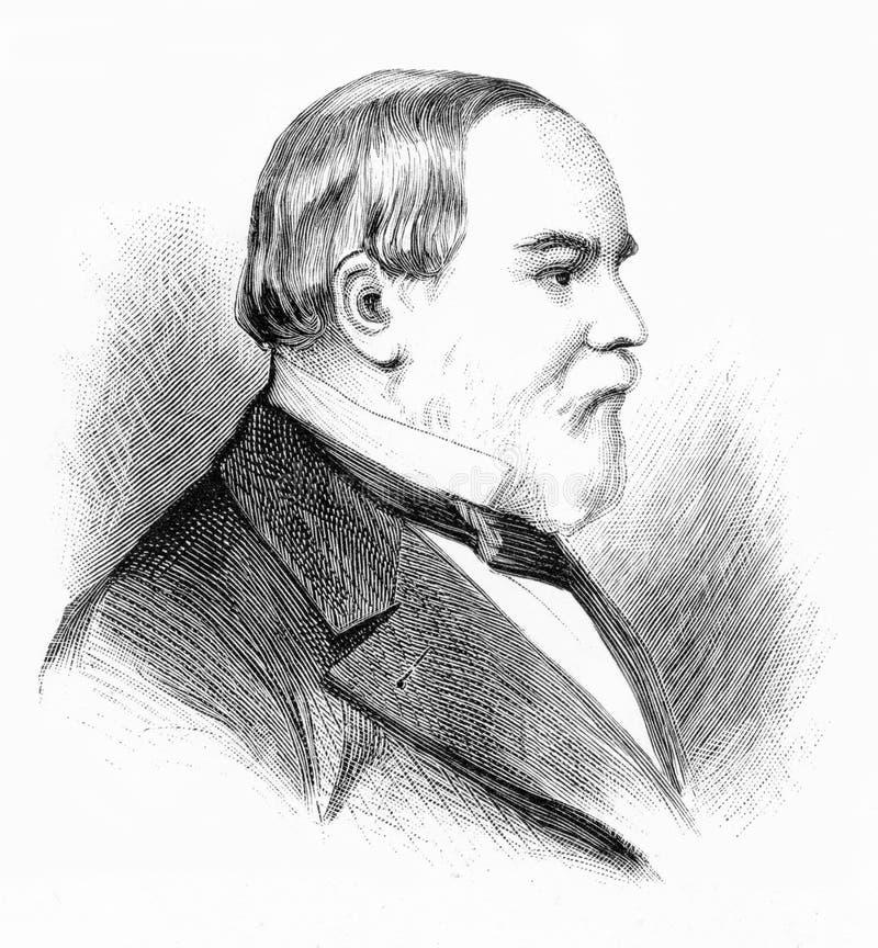 Viktig-allmänna Frederick Holt Robe stock illustrationer