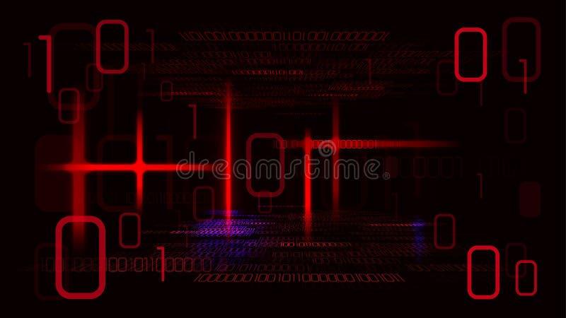 Viktig cyberattack som slår datorer vektor illustrationer
