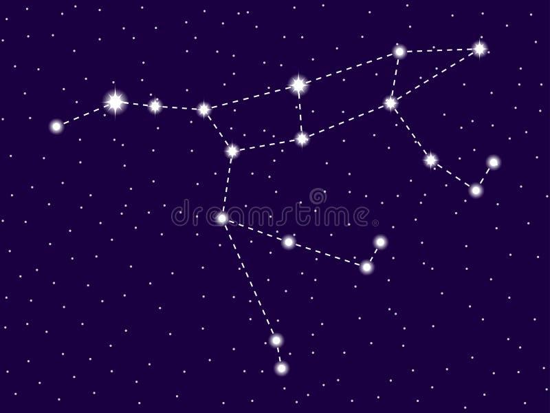 viktig ursa f?r konstellation starry nattsky Utrymmeobjekt, galax vektor vektor illustrationer
