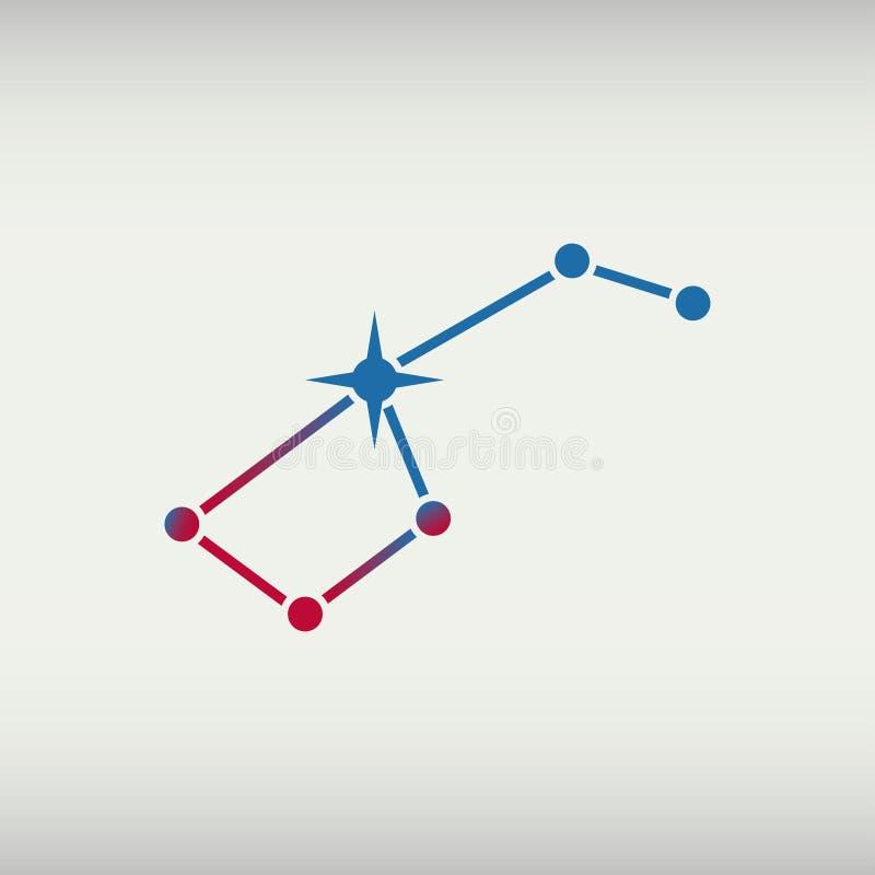 viktig ursa Karlavagnenkonstellation också vektor för coreldrawillustration royaltyfri illustrationer
