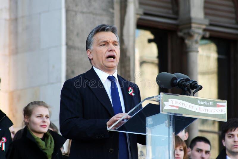 Viktor Orban der ungarische Premierminister stockfotos