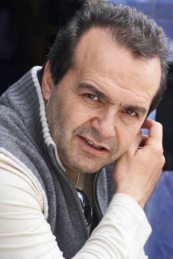 Viktor Shenderovich, VerfasserSatiriker lizenzfreies stockfoto