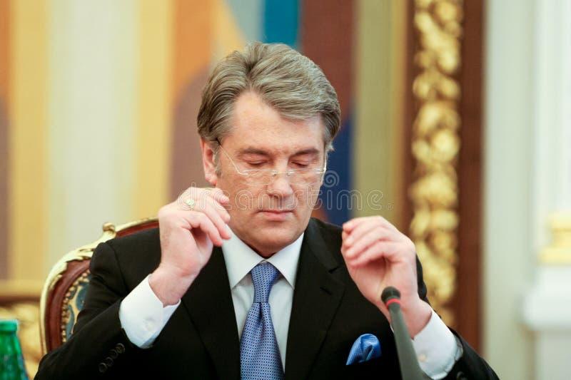 Viktor Yushchenko - de derde President van de Oekraïne (2005 tot 2010 stock foto's