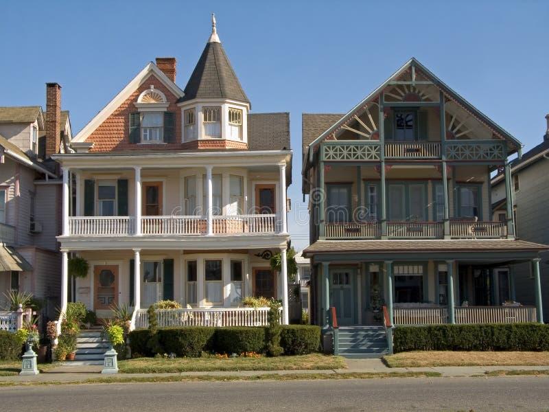 Viktorianische Häuser lizenzfreies stockfoto