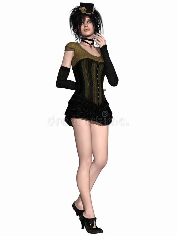 Viktorianische Kleidung stock abbildung