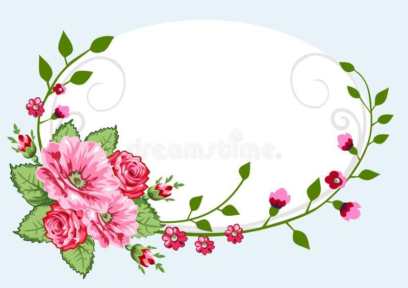 Viktorianische Roseweinlese lizenzfreie abbildung