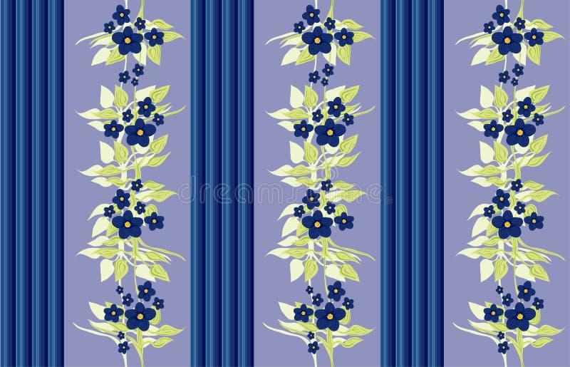 Viktorianische Tapete - Blau stock abbildung