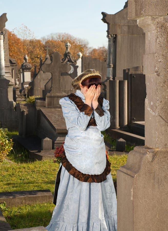 Viktorianische Witwe lizenzfreies stockbild