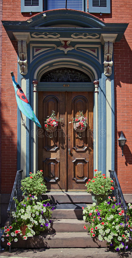 Viktorianischer Eingangseingang lizenzfreie stockfotos
