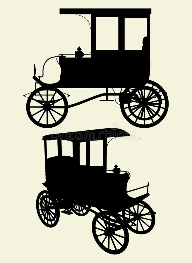 Viktorianischer Fahrerhaus-Wagen-Vektor 01 vektor abbildung
