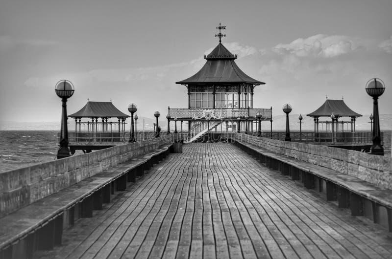 Viktorianischer Pier Clevedon stockfoto