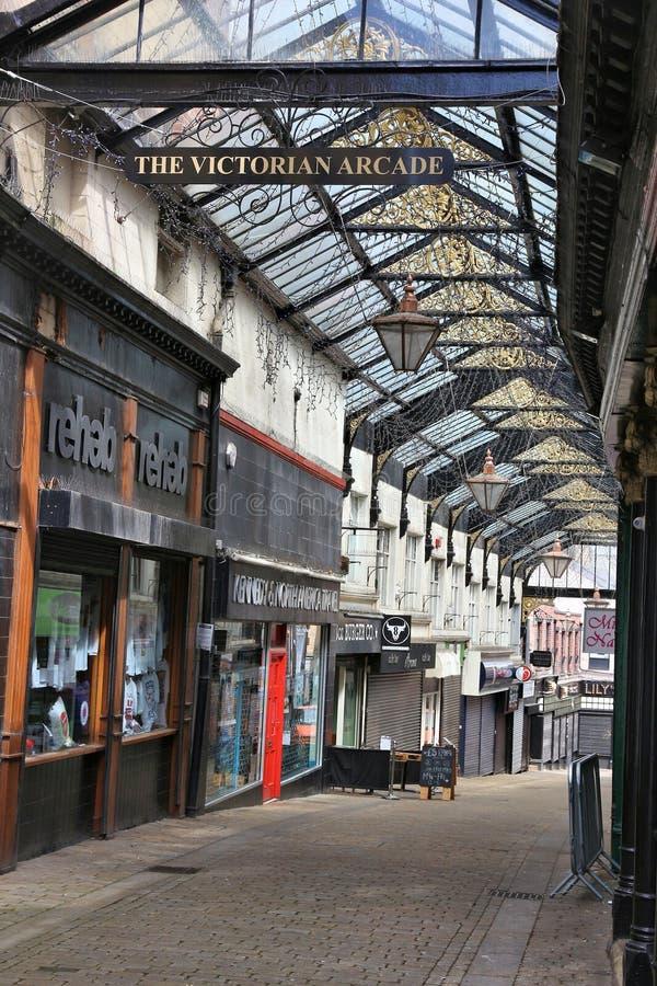 Viktorianischer Säulengang Barnsleys stockfoto