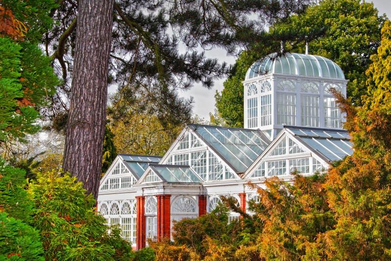 Viktorianisches erhaltendes Gewächshaus lizenzfreies stockbild