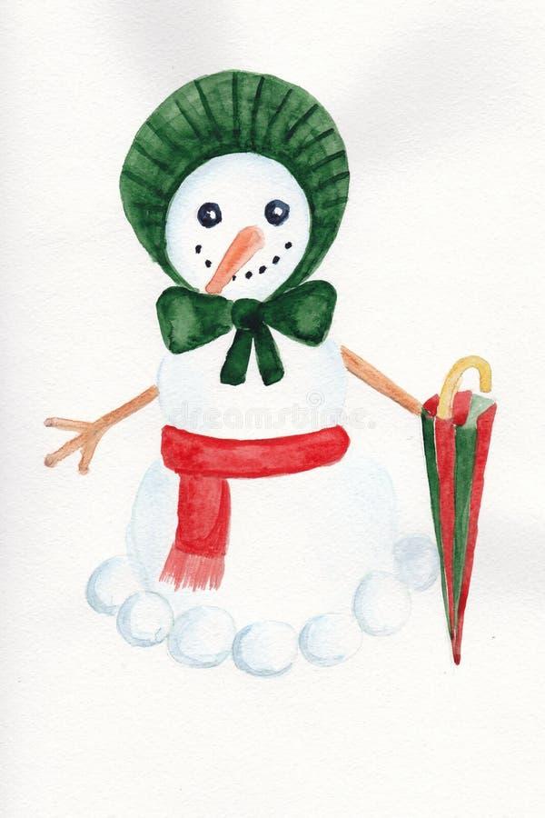 Viktorianisches snowwoman lizenzfreie stockbilder