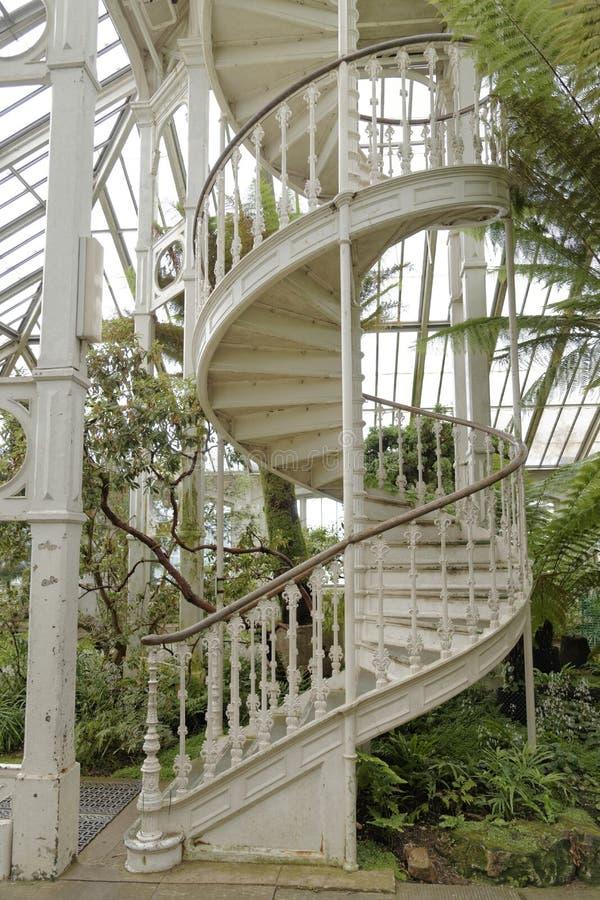 Viktorianisches Treppenhaus lizenzfreie stockbilder
