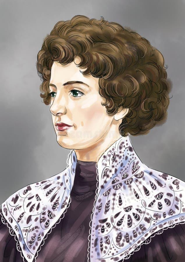 Viktoriansk dame stock illustrationer