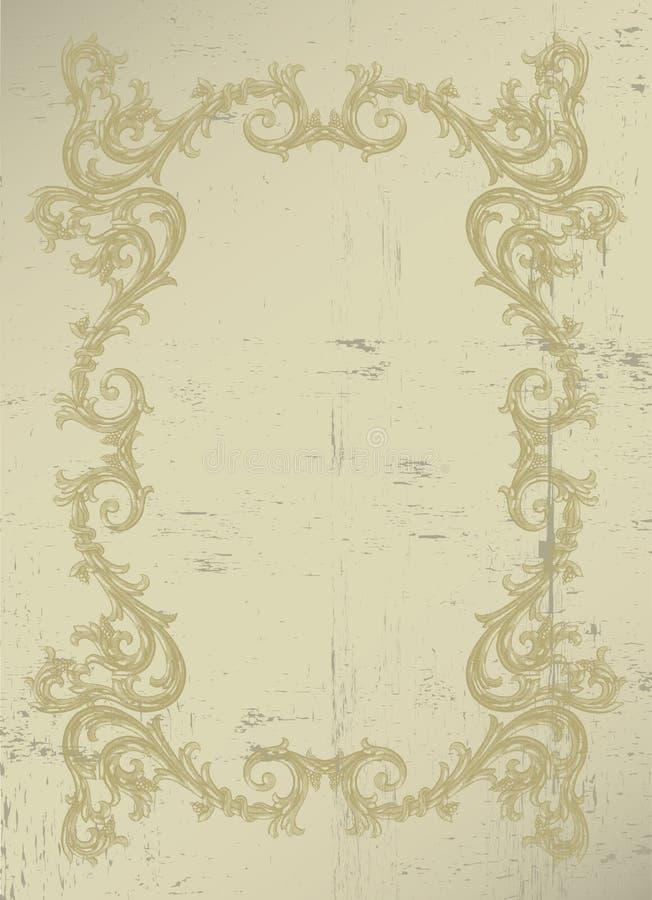 Viktoriansk gräns royaltyfri illustrationer