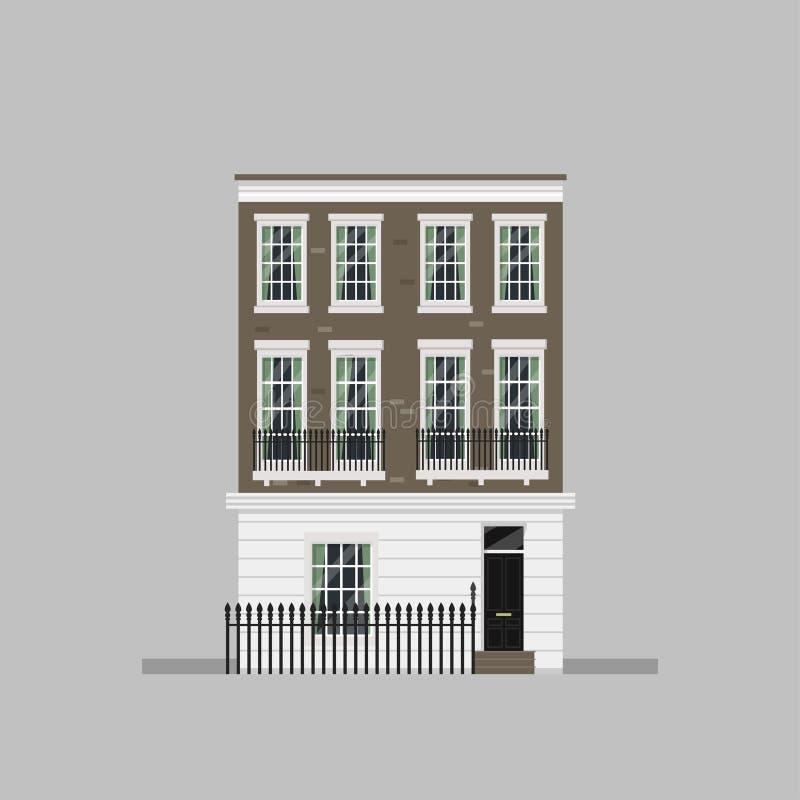 Download Viktoriansk husuppsättning vektor illustrationer. Illustration av europeiskt - 76703115
