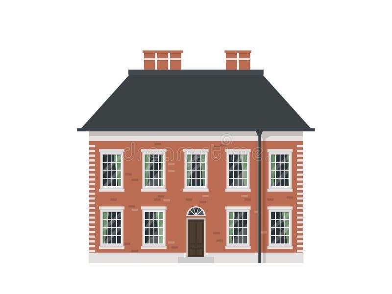 Download Viktoriansk husuppsättning vektor illustrationer. Illustration av facade - 76703187