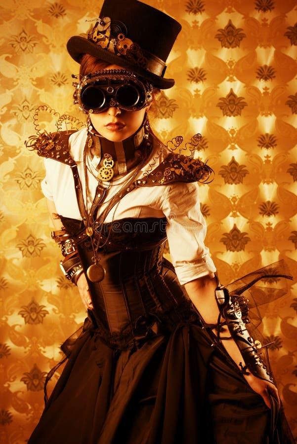 Viktoriansk klänning arkivfoto
