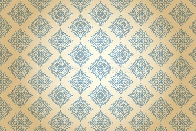 Viktoriansk modell för kungliga blått för tyg vektor illustrationer