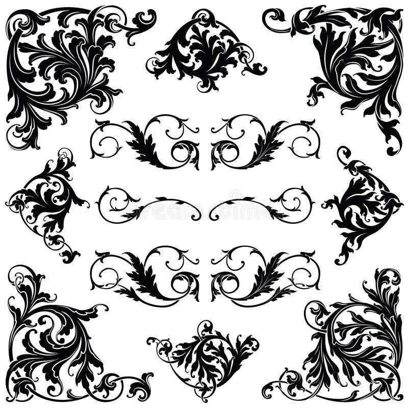 Viktoriansk prydnad stock illustrationer