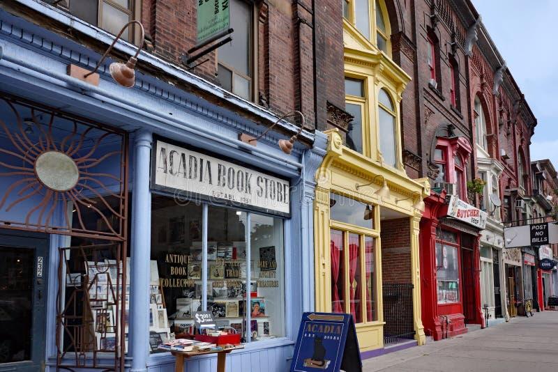 Viktorianska kommersiella byggnader i Toronto royaltyfri fotografi