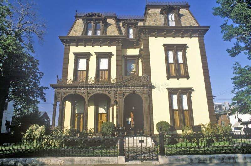 Viktorianskt hem i Evansville, Indiana arkivfoton