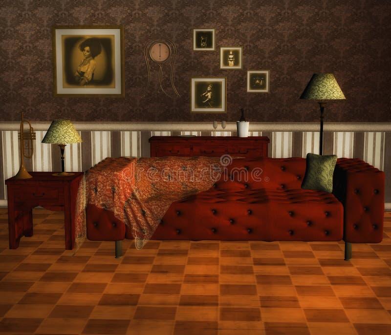 Viktorianskt rum stock illustrationer
