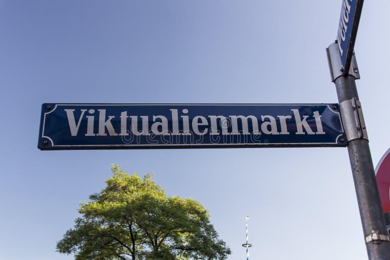 Viktualienmarkt en Munich, Baviera, Alemania, 2015 fotos de archivo