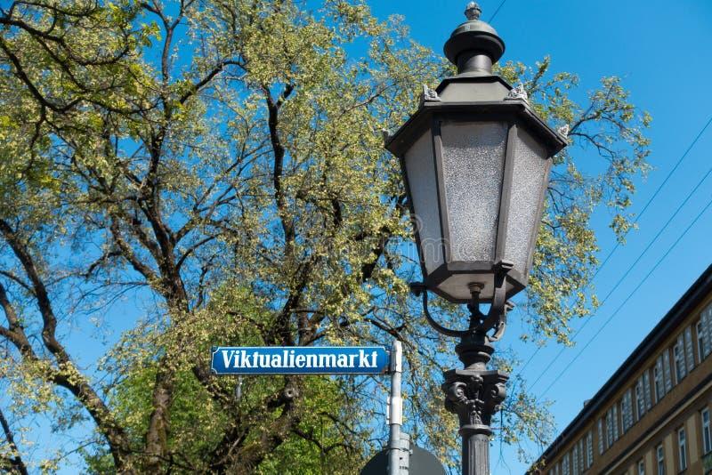 Viktualienmarkt Signage Beside Black Street Light During Daytime Free Public Domain Cc0 Image