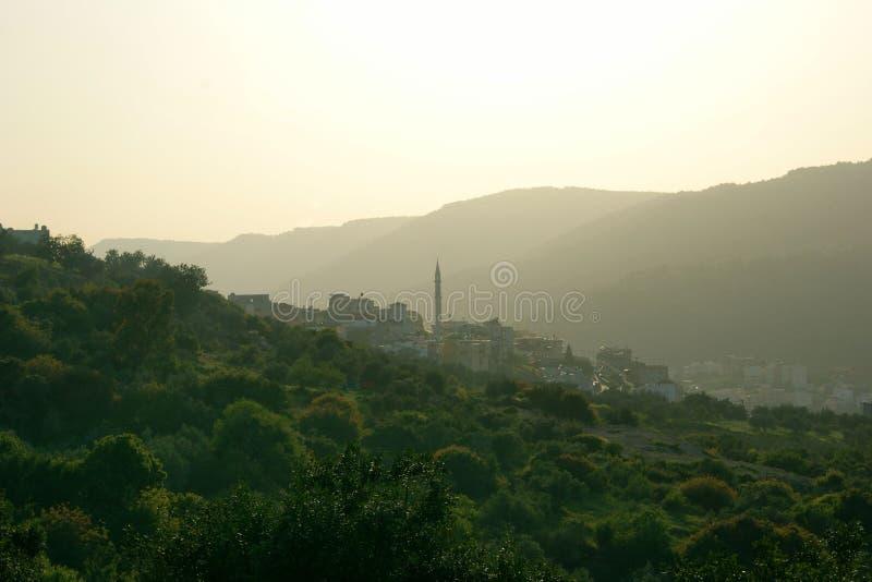 Vila árabe pitoresca em Médio Oriente fotografia de stock royalty free