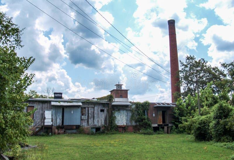 Vila abandonada do moinho de algodão de Oakdale fotografia de stock