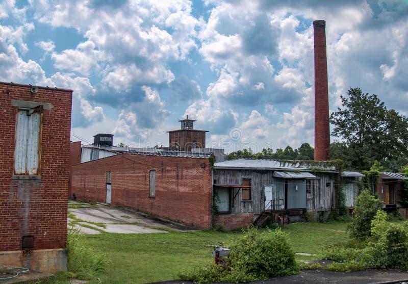 Vila abandonada do moinho de algodão de Oakdale fotografia de stock royalty free