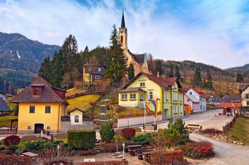 Vila alpina Prein no RAX Baixa Áustria fotos de stock royalty free