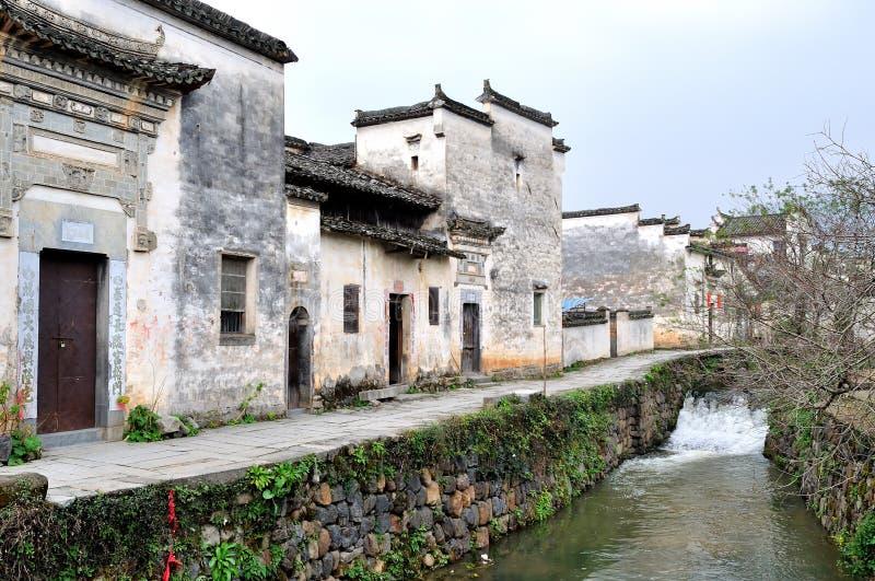 Vila antiga chinesa imagens de stock