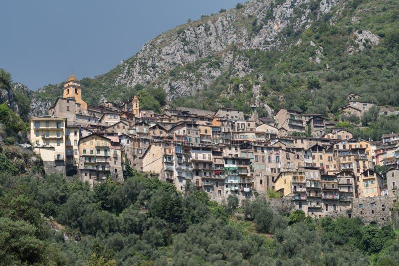 Vila antiga de Saorge, França imagens de stock royalty free