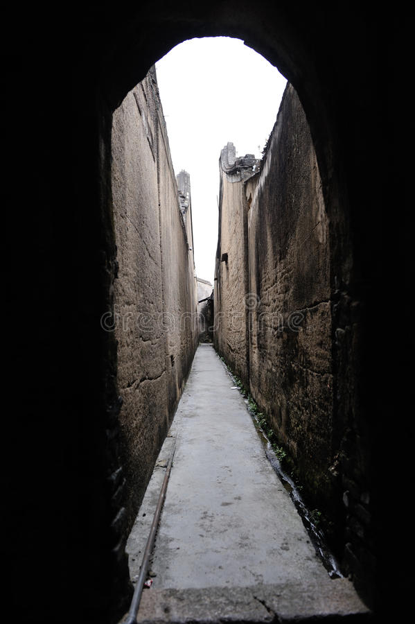 Vila antiga do longhu chinês imagens de stock royalty free