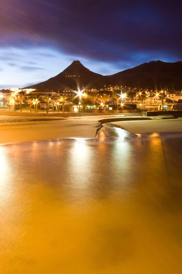 Vila Baleira por noche fotografía de archivo