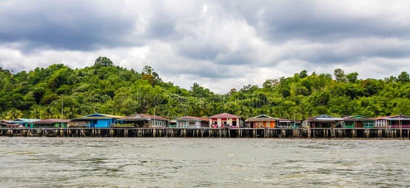 Vila-Bandar Seri Begawan da água, Brunei Darussalam fotografia de stock