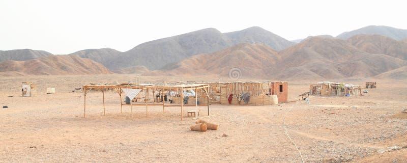 Vila beduína no deserto em Marsa Alam imagens de stock royalty free