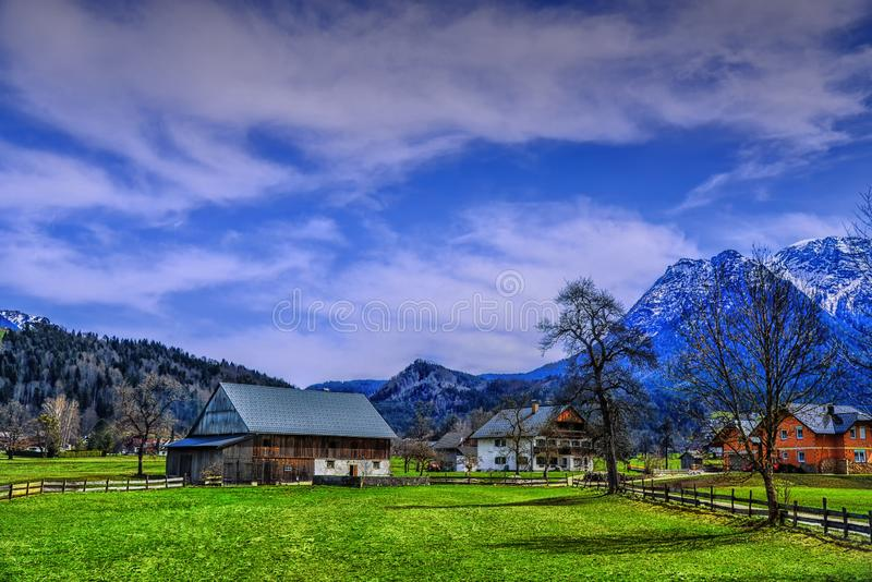 A vila bonita no austríaco fotografia de stock