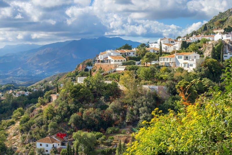 Vila branca de Mijas Costa del Sol, a Andaluzia, Espanha foto de stock