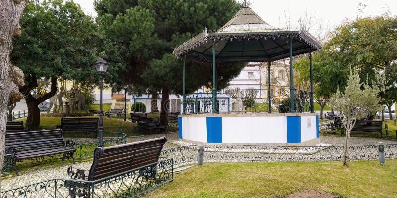 Vila Bucelas, Loures, Portugal. Garden and Coreto of Vila Bucelas, Loures, Portugal royalty free stock photo