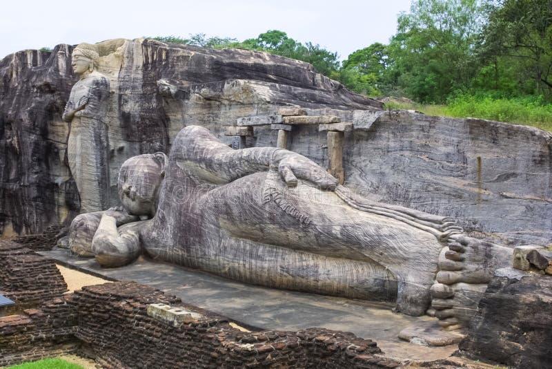 Vila Buddha i Pollanaruwa royaltyfri foto