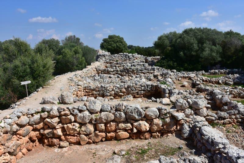 Vila Capocorb Vell da escavação foto de stock