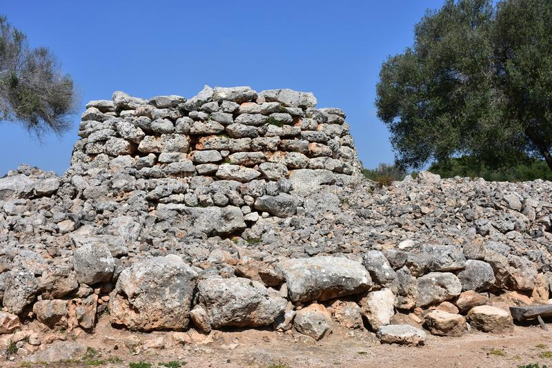 Vila Capocorb Vell da escavação fotos de stock royalty free