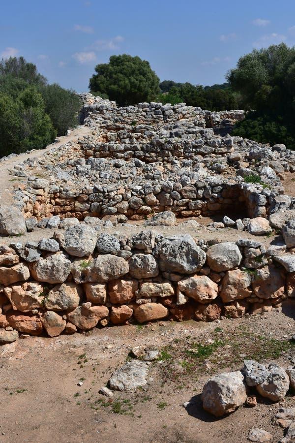 Vila Capocorb Vell da escavação foto de stock royalty free